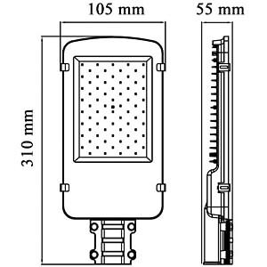 LED Straßenlampe, 2000 lm, 20 W, IP65, 6000 K OPTONICA SL9171