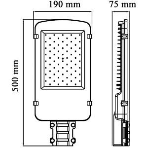LED Straßenlampe, 8000 lm, 80 W, IP65, 6000 K OPTONICA SL9173