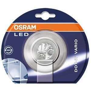 LED-Anbauleuchte DOT-IT VARIO, 0,23 W, silber, 3x AAA (Micro) OSRAM 4008321930705