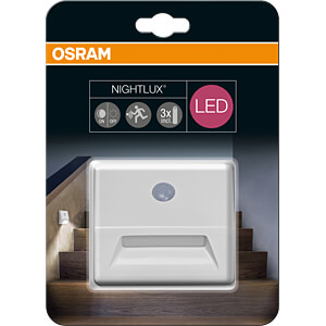 LED-Anbauleuchte NIGHTLUX Stair, 0,25 W, 12 lm, 4000 K, weiß OSRAM 4058075030589