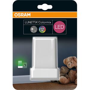 Nachtleuchte LUNETTA Shine, 0,28 W, RGB, eckig, weiß OSRAM 4058075030701