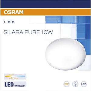 Deckenleuchte SILARA PURE, 10 W, 700 lm, 3000 K, rund, weiß OSRAM 4058075032873