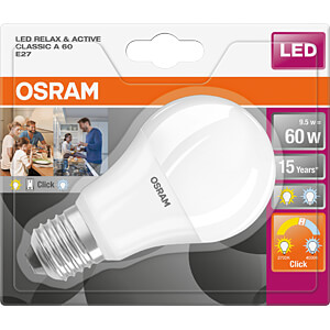 LED-Lampe STAR+ Active & Relax E27, 9,5 W, 806 lm, 2700 K OSRAM 4058075037571