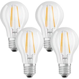 Osram LED Lamp, E27 Fitting, 7W, Warm White, Pack of 4 OSRAM 4058075042889