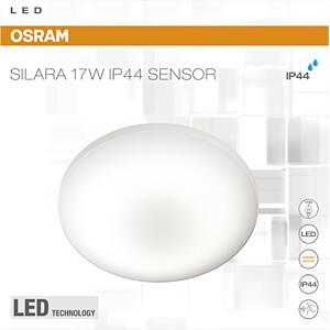 Deckenleuchte SILARA SENSOR, 17 W, 1100 lm, 3000 K, rund, weiß OSRAM 4058075048218
