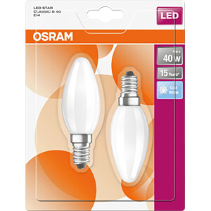 LED-Lampe STAR E14, 4 W, 470 lm, 4000 K, Filament, Doppelpack OSRAM 4058075808836