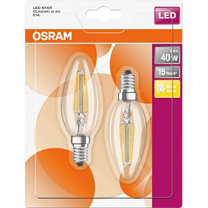 LED-Lampe STAR E14, 4 W, 470 lm, 2700 K, Filament, 2er-Pack OSRAM 4058075815773