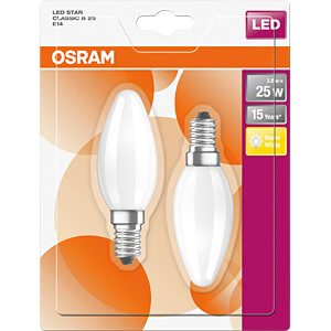 LED-Lampe STAR E14, 2,8 W, 250 lm, 2700 K, Filament, 2er-Pack OSRAM 4058075815797
