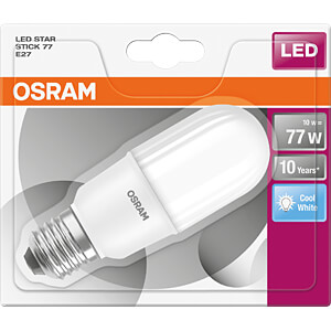LED-Lampe STAR STICK E27, 10 W, 1100 lm, 4000 K OSRAM 4058075815971