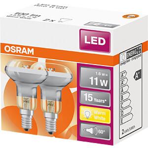 LED-Strahler STAR E14, 1,6 W, 110 lm, 2700 K, 2er-Pack OSRAM 4058075817555