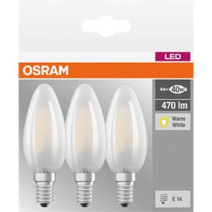 LED-Lampe BASE E14, 4 W, 470 lm, 2700 K, Filament, 3er-Pack OSRAM 4058075819375