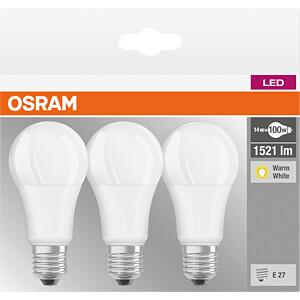LED-Lampe BASE E27, 14 W, 1521 lm, 2700 K, 3er-Pack OSRAM 4058075819412