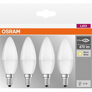LED-Lampe BASE E14, 5,7 W, 470 lm, 2700 K, 4er-Pack OSRAM 4058075819474