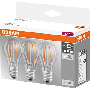 LED-Lampe BASE E27, 6,5 W, 806 lm, 4000 K, 3er-Pack OSRAM 4058075819535