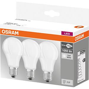 LED-Lampe BASE E27, 10,5 W, 1055 lm, 4000 K, 3er-Pack OSRAM 4058075819573