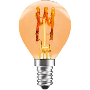 LED-Lampe E14, 3 W, 100 lm, 2200 K, dimmbar LEDMAXX P45S3WE14