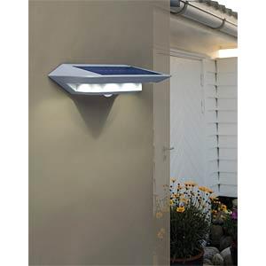Solarwandl. mit Bewegungsmelder, silber ECO LIGHT P 9014 SI