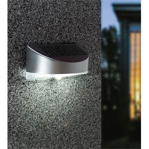 Solar Walllamp with motion sensor, silver ECO LIGHT P 9015 SI