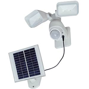 Solar Floodlight with motion sensor, white ECO LIGHT P 9019 WH