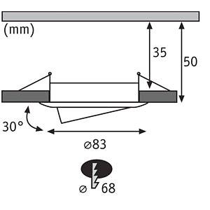 Smart Light, Einbauleuchte, Goal, metall, EEK A++ - A PAULMANN 50007