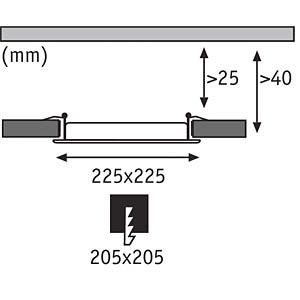 Smart Light, Einbauleuchte, Weiß, metall, 13,5 W, EEK A++ - A PAULMANN 50037