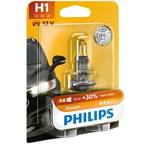 Kfz-Lampe, H1, 1er-Pack, P14,5s, Vision PHILIPS 47516930