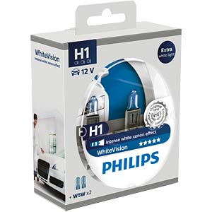 H1 headlight bulb Philips White Vision, twin pack PHILIPS 78884928