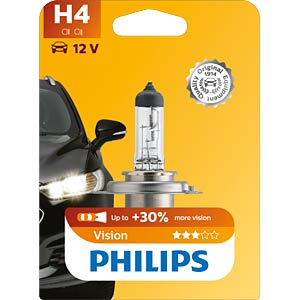 Kfz-Lampe, H4, 1er-Pack, P43t, Vision PHILIPS 47480330