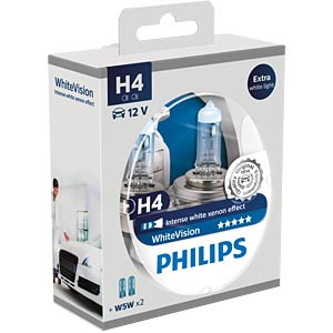 H4 headlight bulb Philips White Vision, twin pack PHILIPS 78886328