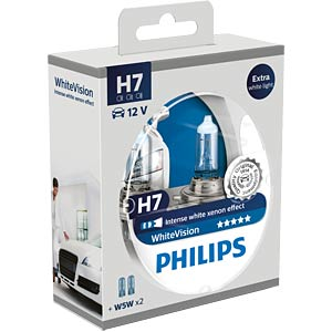 H7 headlight bulb Philips X-treme Vision, twin pack PHILIPS 12972XVS2
