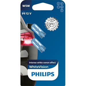 W5W Signallampen Philips White Vision, 2-er PHILIPS 39204330