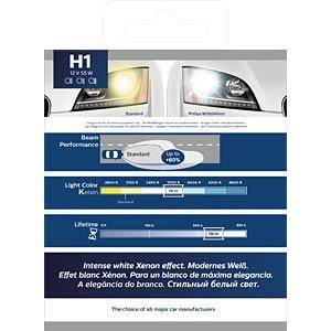 Kfz-Lampe H1, 2er Blister, P14,5s, White Vision PHILIPS 78884928