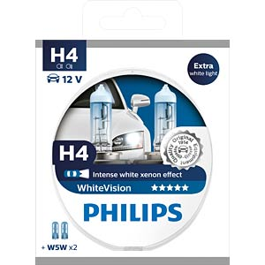 H4 Scheinwerferlampe Philips White Vision, 2-er PHILIPS 78886328