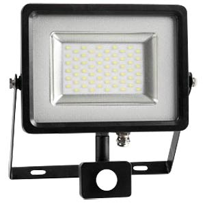 LED-Floodlight with motion sensor - 30 W, grey/black 4500K V-TAC 5700