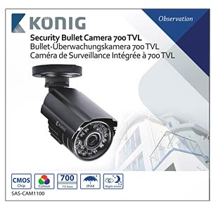 Surveillance camera 700 TVL incl. 18 m cable KÖNIG SAS-CAM1100