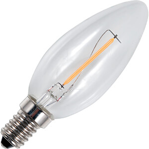 LED-Lampe E14, 1 W, 70 lm, 2500 K, Filament SCHIEFER LIGHTING L023841002