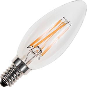 LED-Lampe E14, 4 W, 250 lm, 2200 K, Filament, dimmbar SCHIEFER LIGHTING LF023840309
