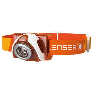 LED-Stirnleuchte SEO 3, 90 lm, weiß / orange, 3x AAA (Micro) LEDLENSER 6003