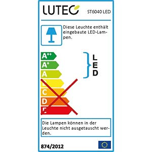 Wandleuchte, 7,6 W, 280 lm, 4100 K, silber, IP44 ECO LIGHT ST 6040 LED