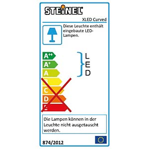 XLED Home CURVED anthrazit STEINEL 012076
