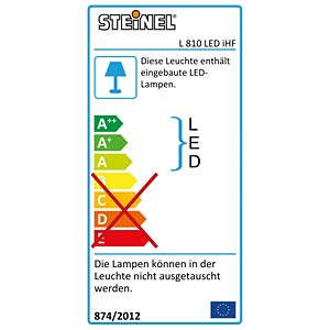 Outdoor sensor light L 810 LED IHF white STEINEL 012656