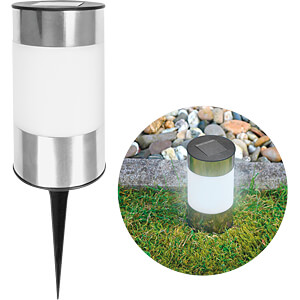 LED garden solar light Big Tube with ground spike, outdoor light EAXUS 73910