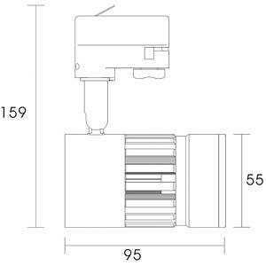 Schienenstrahler, 8 W, 464 lm, 3000 K, rund, dimmbar LED GALAXY TLW-3808D-930