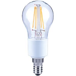 LED-Lampe E14, 4,5 W, 470 lm, 2700 K, Filament, dimmbar TELESOUND 37-25404