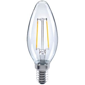LED-Kerzenform,  Filament, 2 W, EEK A++ TELESOUND 33-402