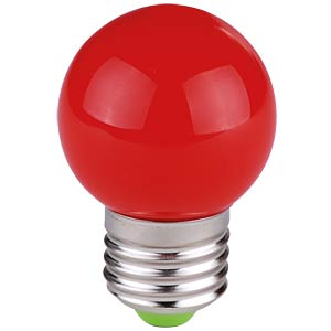 Decorative drop-shaped LED lamp, 1 W, red, E27 TELESOUND 37-65712