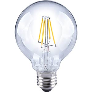 LED Globe, filament LED, 5 W, EEC A++ TELESOUND 37-32705