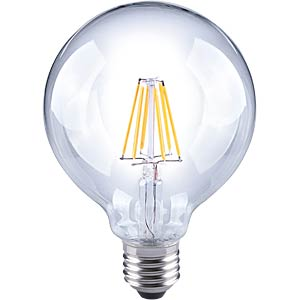 LED globe, filament, 6 W, EEC A++ TELESOUND 37-32706