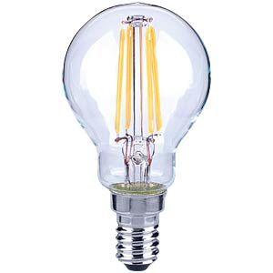 LED-Lampe E14, 4 W, 430 lm, 2700 K, Filament TELESOUND 37-35405