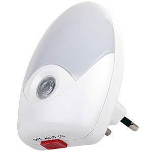 LED Nachtlicht, Dämmerungssensor und Schalter, EEK A++ - A TELESOUND 44-95012